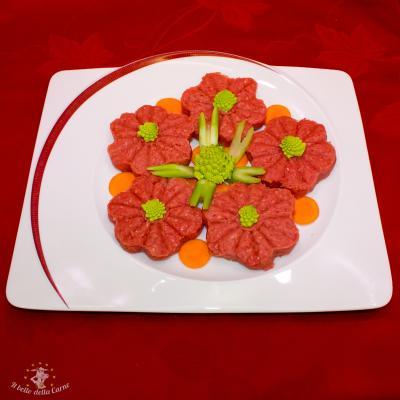 Hamburger di manzo a fiore